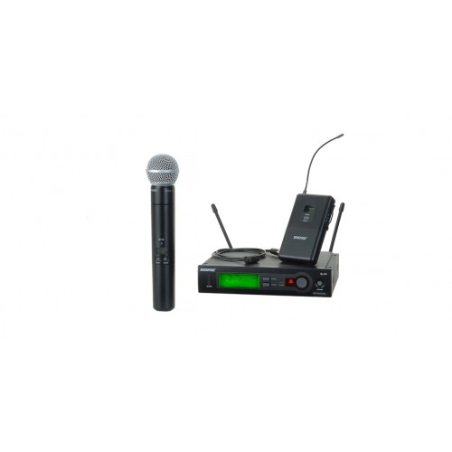 Photo of Shure SLX124/85/SM58 microphone system